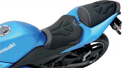 Saddlemen - Saddlemen Gel-Channel Tech One-Piece Solo Seat with Rear Cover 0810-K022