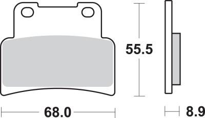 SBS - SBS HS Sintered Brake Pads 844HS