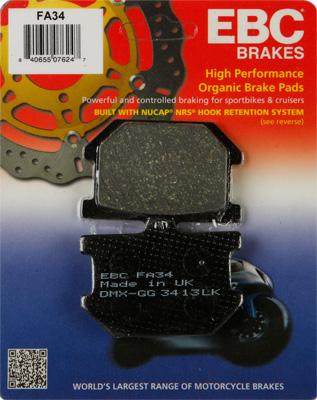EBC - EBC Organic Kevlar Brake Pads FA34