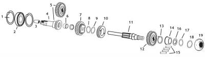 Drag Specialties - Drag Specialties Mainshaft Ball Bearing(2) 1106-0010