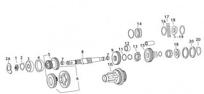 Jim's Machining - Jim's Machining Mainshaft Gear Bushing - 2nd or 3rd Gears (12) 35322-38