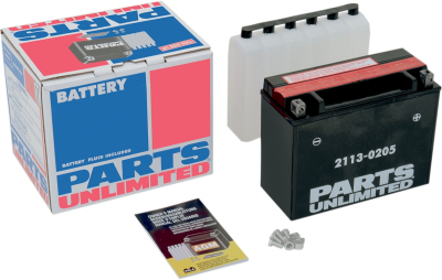 Parts Unlimited - Parts Unlimited AGM Maintenance-Free Battery 2113-0205