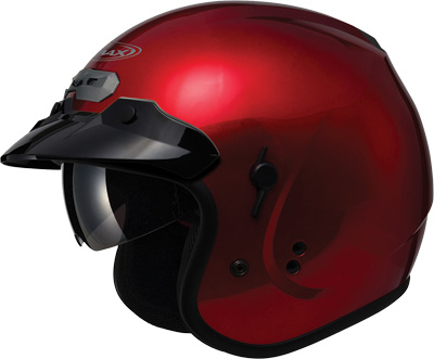 GMAX - GMAX GM 32 Solid Motorcycle Helmet w/Sun Shield G1320093