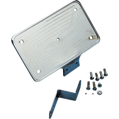 Drag Specialties - Drag Specialties Laydown License Plate Mount DS-720134