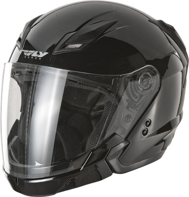 Fly Racing - Fly Racing Tourist Solid Open Face Helmet F73-8100~2