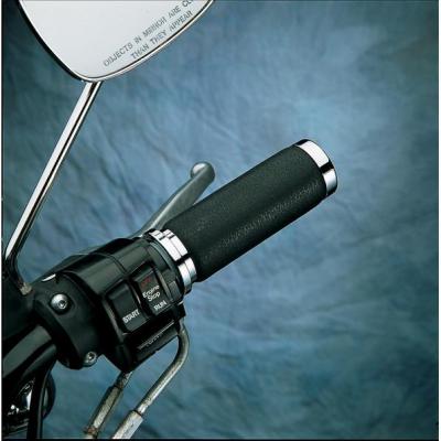 Drag Specialties - Drag Specialties Textured Black Rubber Grips DS-243105