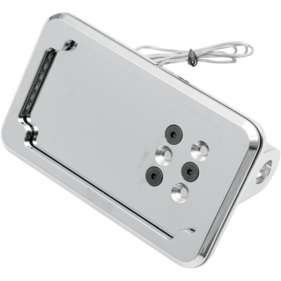Cycle Visions - Cycle Visions In Close Vertical License Plate Holder with Plate Light CV-4606L