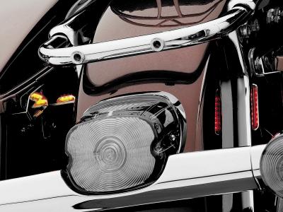 Kuryakyn - Kuryakyn Laydown Taillight Lens Kit with Clear License Plate Window 4767