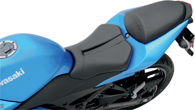 Saddlemen - Saddlemen Gel-Channel Track - CF One-Piece Solo Seat with Rear Cover 0810-K026