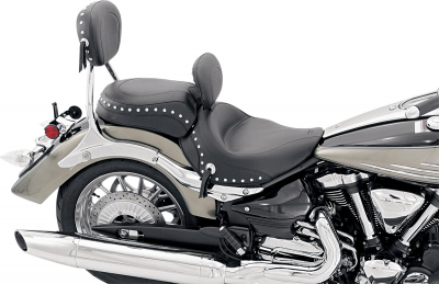 Mustang - Mustang Wide Touring Solo Seat with Driver Backrest 79452