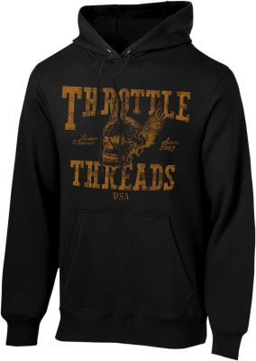 Throttle Threads - Throttle Threads Flying Skul Hoodie TT625F79BKLR