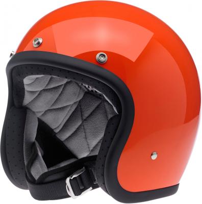 BILTWELL - BILTWELL Bonanza Open Face Solid Color Helmets BHHAZGLORGXSM