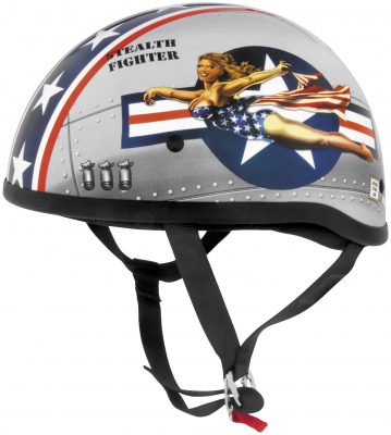 Skid Lid Helmets - Skid Lid Helmets Original Bomber Pin Up Helmet 646953