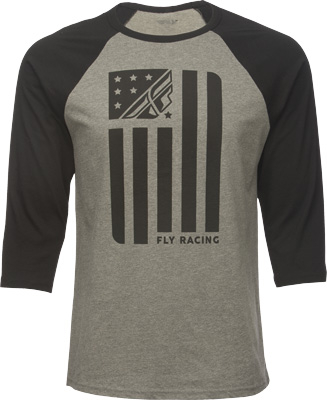 Fly Racing - Fly Racing Past Time 3/4 T-Shirt 352-4126X