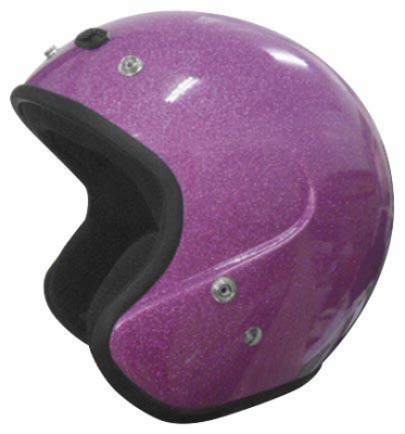 Cyber Helmets - Cyber Helmets U-6 Open Face Metal Flake Helmet 641457